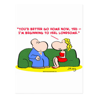 feel lonesome date dating postcard