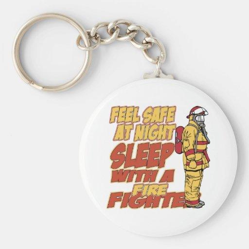 Feel Safe, Sleep with a Firefighter Keychain