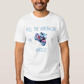 Feel the adrenaline on 2 wheels t-shirt