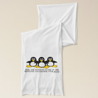 Feel the burning stare of the penguins scarf
