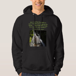 feel the earth mens hoodie
