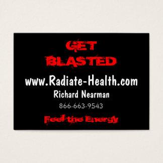 Feel the Energy, www.Radiate-Health.com, Richar... Business Card