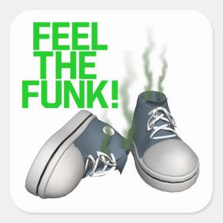 Feel The Funk Square Sticker