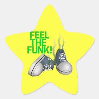Feel The Funk Star Sticker