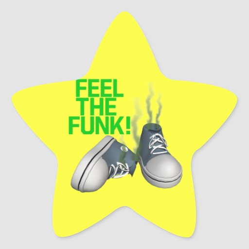 Feel The Funk Star Stickers