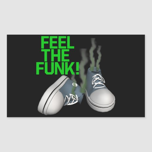 Feel The Funk Rectangle Stickers