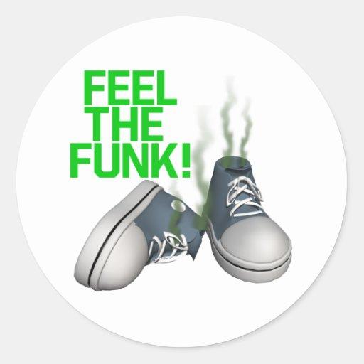 Feel The Funk Round Sticker