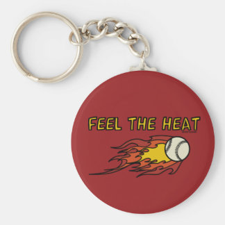 FEEL THE HEAT - SPORTY SLANG - Baseball Keychain