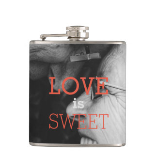 Feel the Love for Love is Sweet Hip Flask