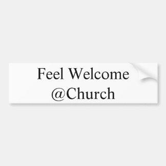 """Feel Welcome @Church"" sticker"