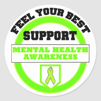 """Feel Your Best Mental Health Awareness"" Stickers"