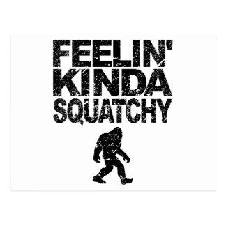 Feelin' Kinda Squatchy (Distressed) Postcard