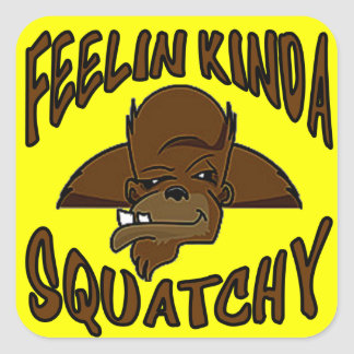 FEELIN KINDA SQUATCHY New Cool Funny Hipster Logo Sticker