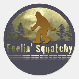Feelin' Squatchy Round Sticker