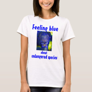 Feeling Blue Orangutan Red Ape T-Shirt