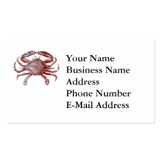 Feeling Crabby Red Pencil Crab Sketch Pack Of Standard Business Cards