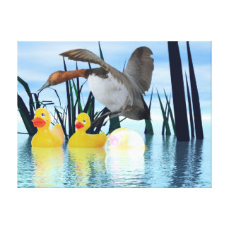 Feeling Ducky by Apollo Stretched Canvas Print