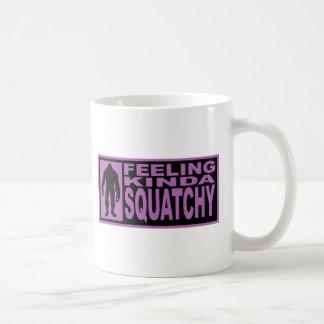 Feeling Kinda Squatchy - Finding Bigfoot Purple Basic White Mug