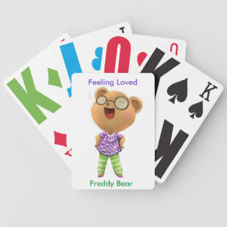 Feeling Loved, A Ted E. Bear Story, Freddy Bear Bicycle Playing Cards