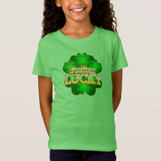 Feeling Lucky Girls green T-shirt