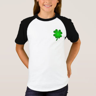 Feeling Lucky Girls Raglag T-shirt