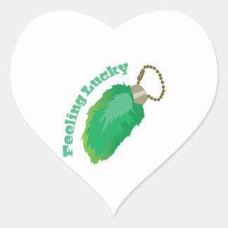 Feeling Lucky Heart Sticker
