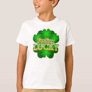 Feeling Lucky Kids white T-shirt