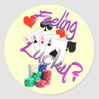 Feeling Lucky? Round Sticker