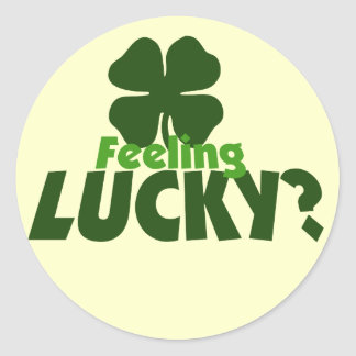 Feeling LUCKY Round Sticker