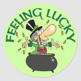 Feeling Lucky Round Stickers
