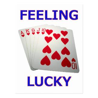 Feeling Lucky Royal Flush Poker Hand Postcards