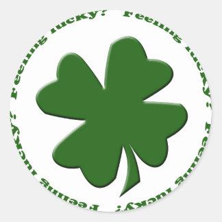 Feeling Lucky? Round Sticker