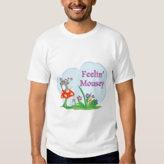 feeling mousey adorable mouse in garden t shirts