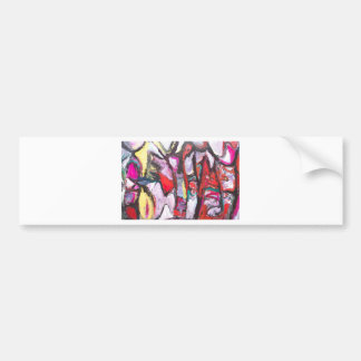 Feeling Pink rather than Red (abstract  painting) Bumper Sticker