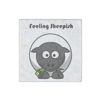 Feeling Sheepish Lamb Cartoon Stone Magnet