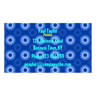 Feeling Sixties Blue Pychedelic Business Card Temp
