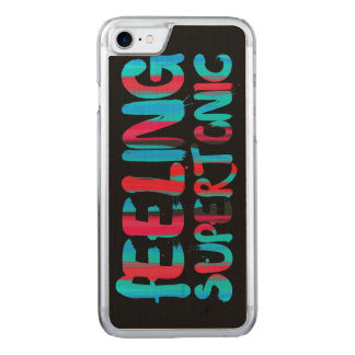 Feeling supertonic music theory pun on black carved iPhone 8/7 case