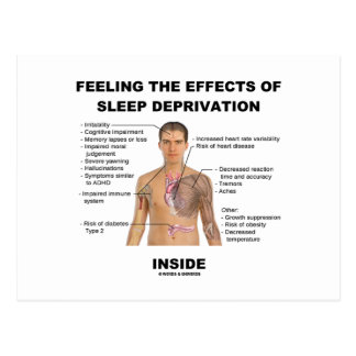 Feeling The Effects Of Sleep Deprivation Inside Postcard
