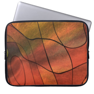 feelings abstract red laptop sleeves
