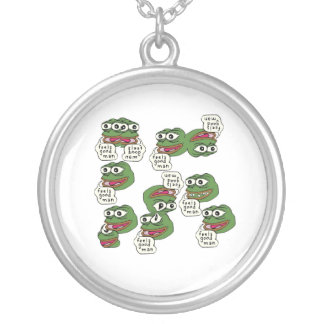 Feels Good Man Round Pendant Necklace
