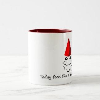 Feels like a Gnome Hat Day Two-Tone Coffee Mug