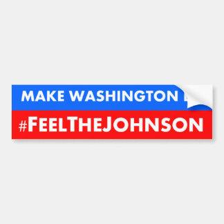 #feelthejohnson Gary Johnson 2016 Bumper Sticker