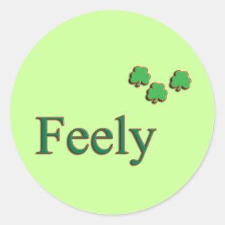 Feely Family Name Round Sticker