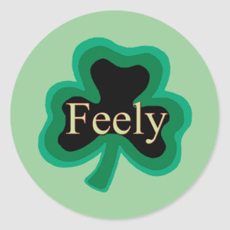 Feely Family Name Round Stickers