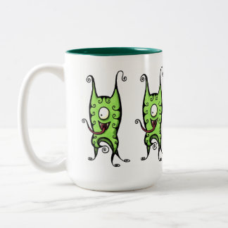 Feeping Creatures mug - Curly Dog Monster
