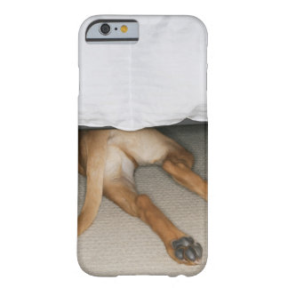 Feet and tail of yellow lab dog hidden under bed barely there iPhone 6 case