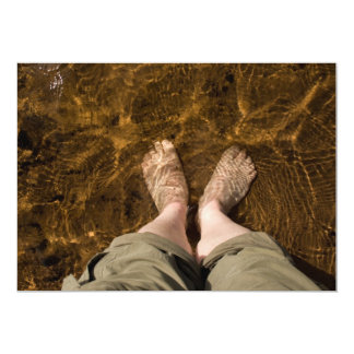 Feet in Water Invitation