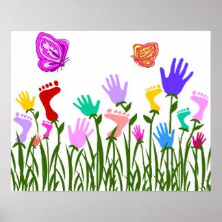 Feet n Hands garden poster
