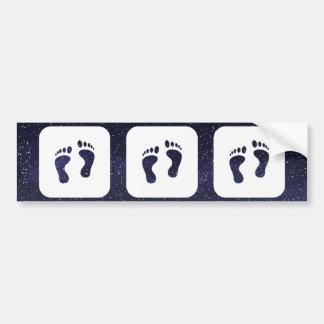 Feet Walks Sign Bumper Sticker