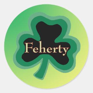 Feherty Family Round Sticker